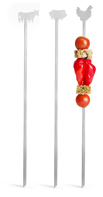 Sagaform - BBQ grillspyd kjøtt 3pk