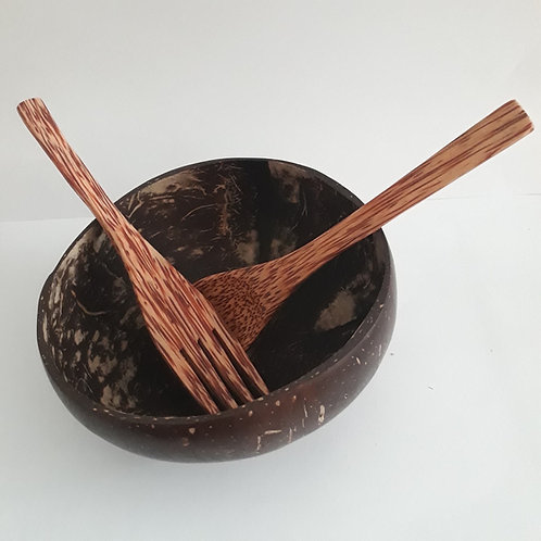 PRE-Order Coconut Bowl and Utensils