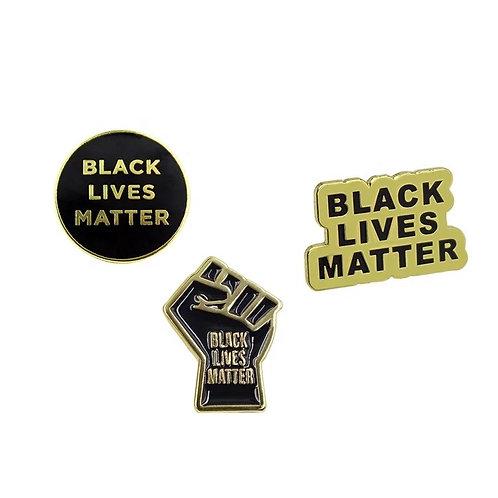3 Black Lives Matter Pins