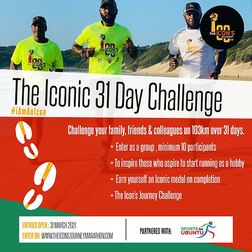 The Iconic 31 Day Group Challenge (10 people)