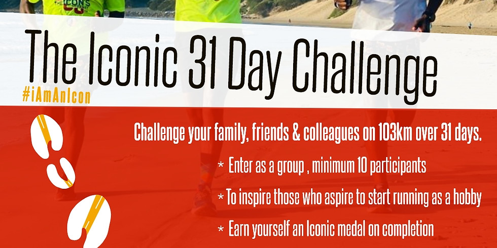 GROUP/CORPORATE ICONIC 31 DAY CHALLENGE