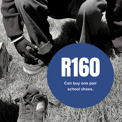 Can buy one pair school shoes.