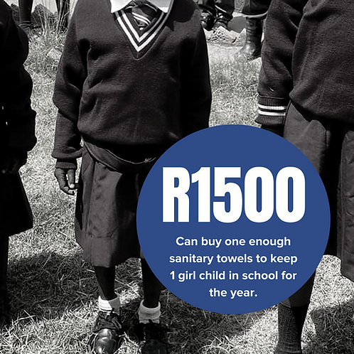 Can buy enough sanitary towels to keep 1 girl child in school for a year.