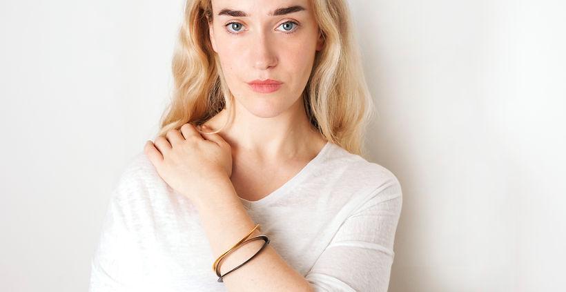 onda bracelet steel gold black silver
