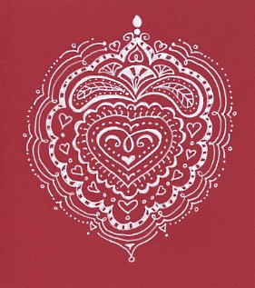 Valentine Doodlefest : Heart Mandalas