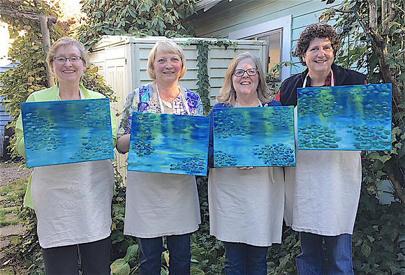 Painting the Masters Party: Monet's Waterlilies