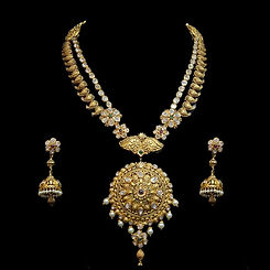 Haritika-Temple-Gold-Mohagony-Necklace-S