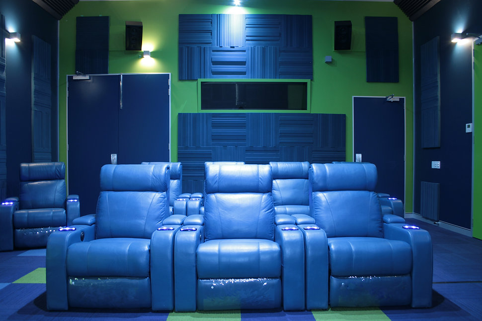 blue recliners installed at christie australia
