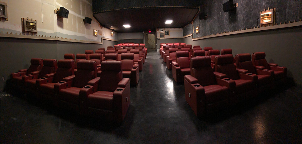 recliners installed at sun theatre usa