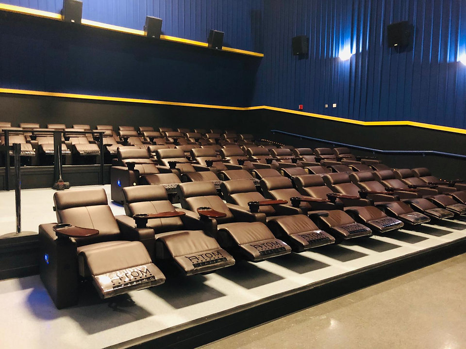 cinema recliners installed at apple cinema usa