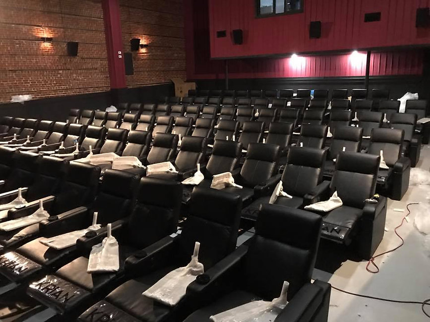 vip recliners installed at historic strand jesup usa