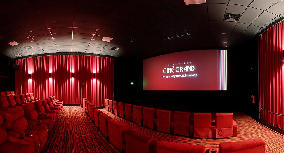cinema reclienrs installed at cine grand california