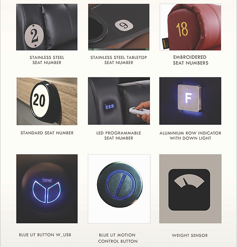 atom seating list of accessories