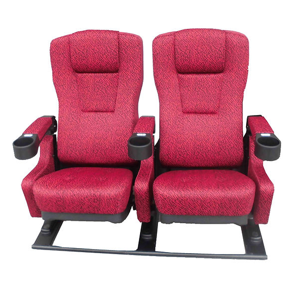 carbon rocker attached cinema chair red.