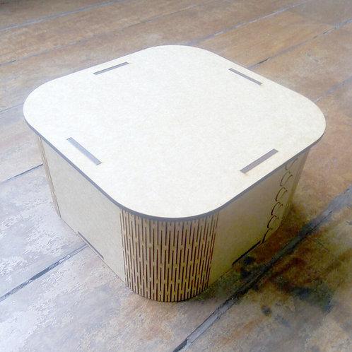 Caixa com bordas arredondadas