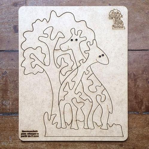 Quebra-Cabeça - Girafa