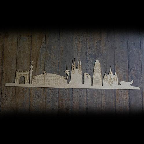 Skyline Barcelona Detalhado