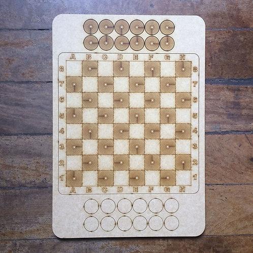 Jogo de Damas - Padrão Circular