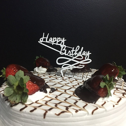 Enfeite de Bolo P - Happy Birthday