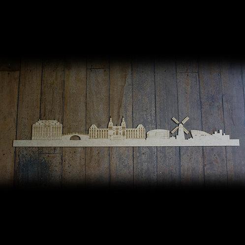 Skyline Amsterdã Detalhado