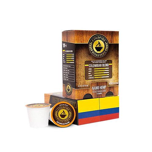 6-pack Hemp-infused Columbian K-Cups / 10mg per - Nano Hemp