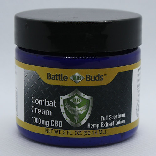 BattleBuds Combat Cream 1000mg Full Spectrum CBD 2oz