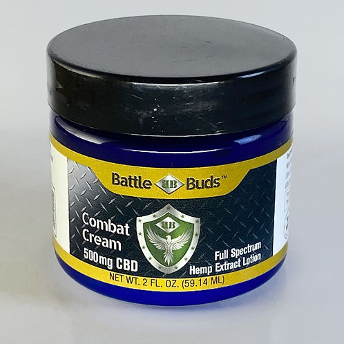 BattleBuds Combat Cream 500mg Full Spectrum CBD Extract 2oz