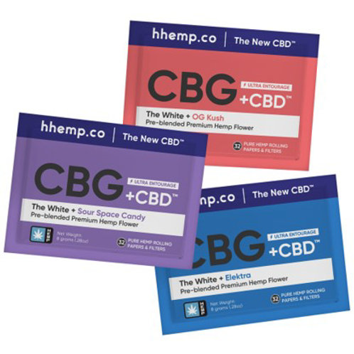 hhemp.co 8g CBG+CBD Preblended Hemp Flower Pouches