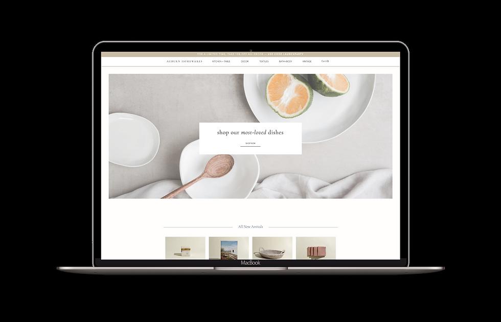 Wix e-commerce website template | IDCO Studio