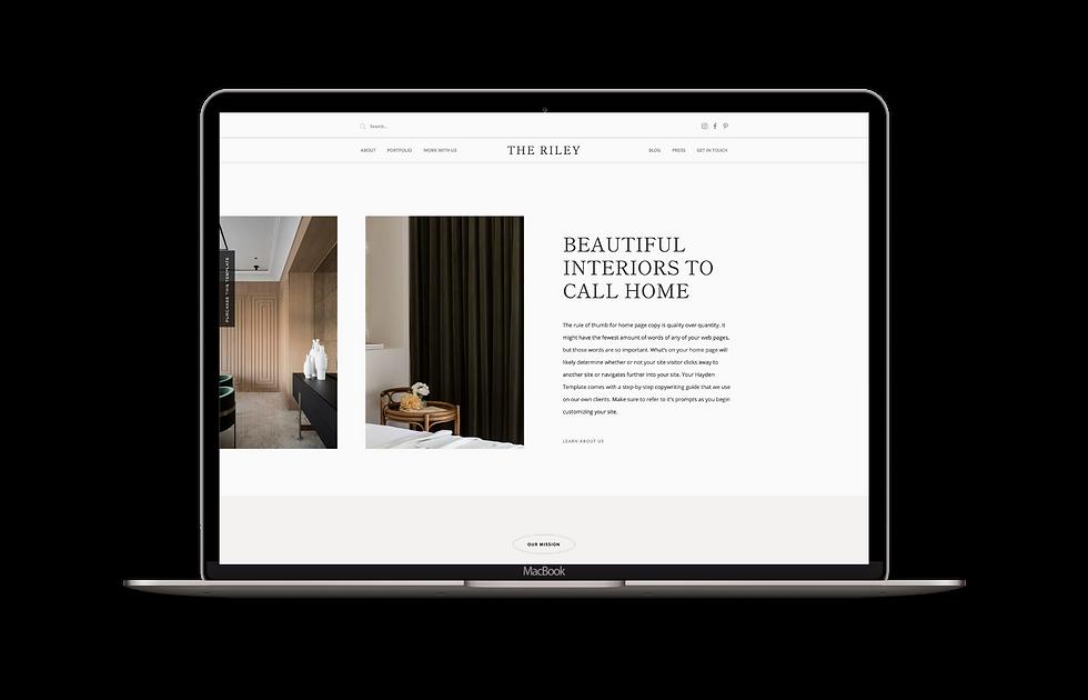 Website template for interior designers | IDCO Studio