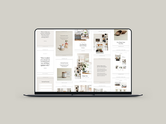 The Oak & Sage Pinterest Template