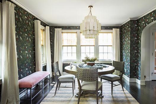 Don't Be Afraid of Wallpaper: Tudor Dining Room
