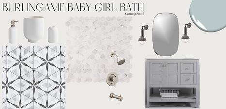 Burlingame Baby Girl Bath