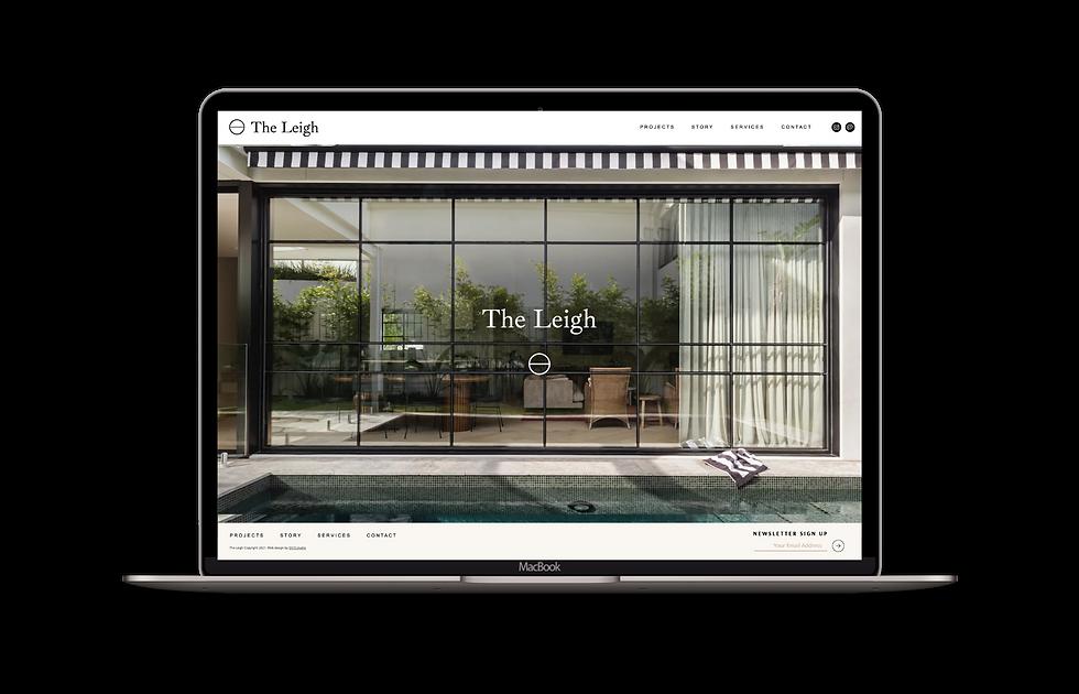 High end website template for interior designers