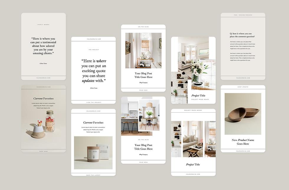 Oak & Sage Pinterest Templates