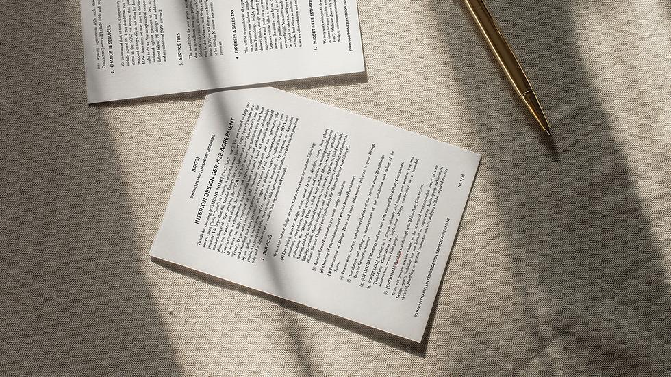Interior Design Service Agreement