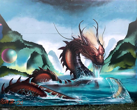Water Dragon, inspired by the work of Sandara