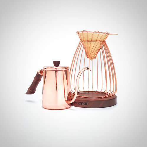 Koonan Rose Gold v60 Brewer Set