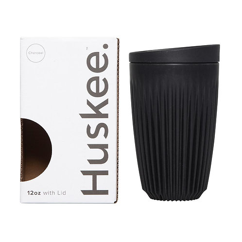 12oz Huskee Cup, Charcoal Colour