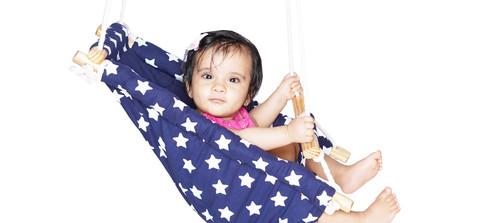 Baby Swing  Ceiling Rocker - Blue Star 1.jpg