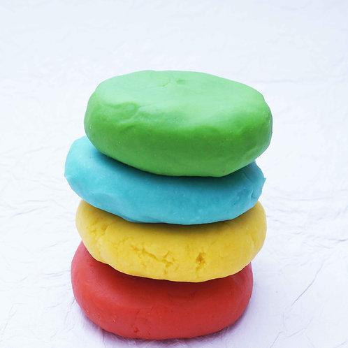 CuddlyCoo Natural Play Dough - 4 colours