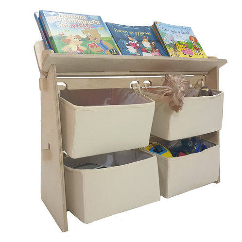 Toy Organiser with Bookshelf