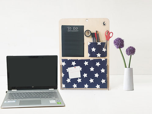 Desk Organiser with Pin Board and Black Board
