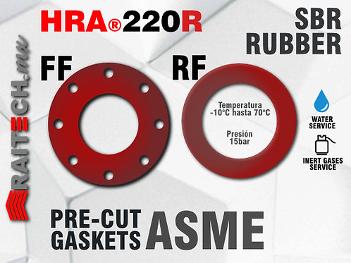Juntas / Empaques de Hule SBR Rojo RAITECH HRA 220R Empaques para bridas