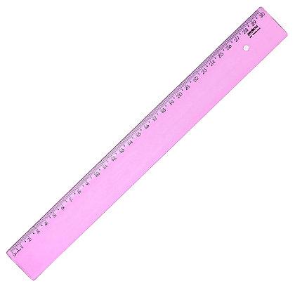Régua 30cm Waleu Rosa
