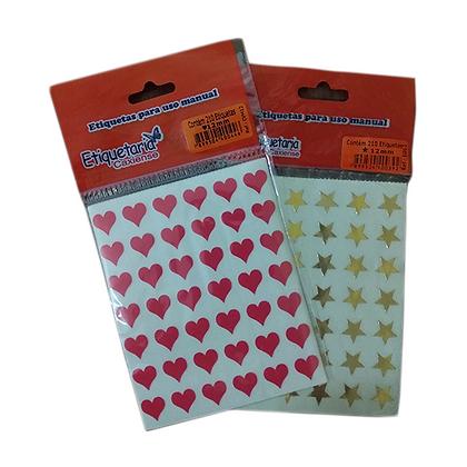 Etiqueta Estrela/Coração