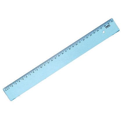 Régua 30cm Waleu Azul