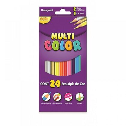 Lápis de Cor 24 Cores Multi Color
