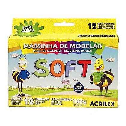Massinha de Modelar Soft 12 Cores Acrilex