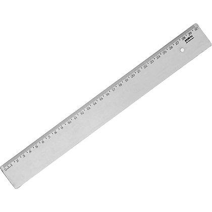 Régua 30cm Waleu Fumê